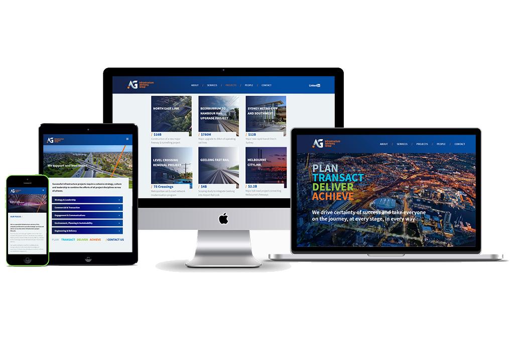Infrastructure Advisory Group Custom Website Design & Development