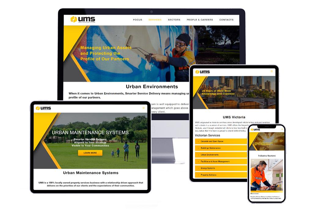 Urban Maintenance Systems (UMS) Custom Website Design & Development