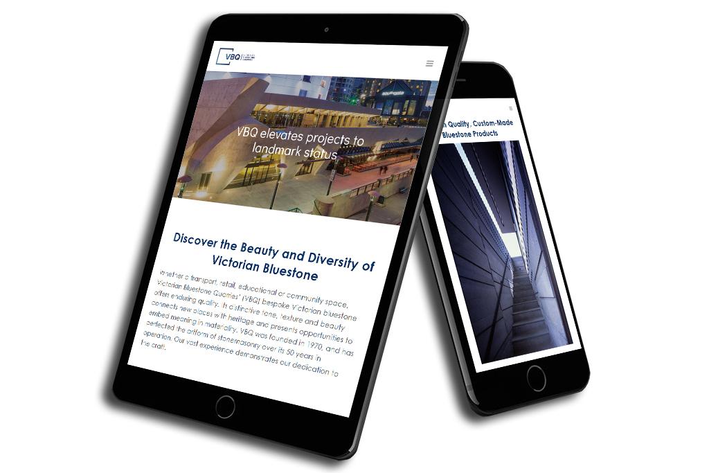 Victorian Bluestone Quarries (VBQ) Custom Website Design & Development